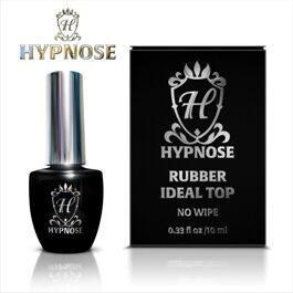 Верхнее покрытие для гель-лака Hypnose Rubber Idel Top no wipe, 10мл