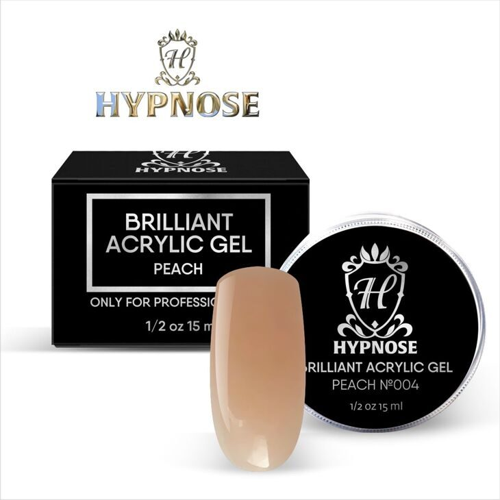 Hypnose Brilliant Acrylic Gel Peach №4, 15 мл