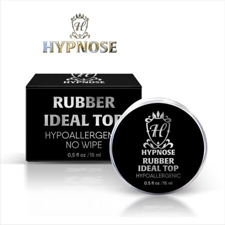 Верхнее покрытие для гель-лака Hypnose Rubber Idel Top no wipe, банка 15мл