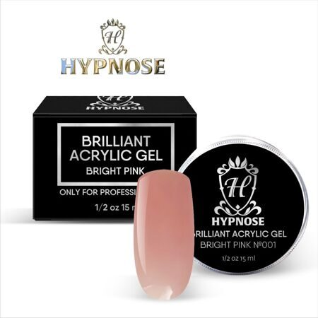 Hypnose Brilliant Acrylic Gel Bright Pink №1, 15 мл