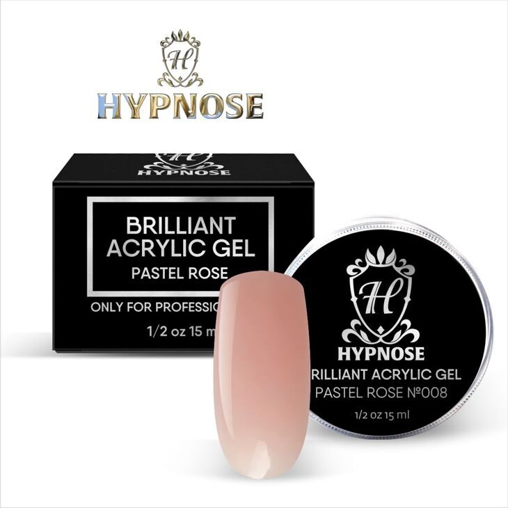 Hypnose Brilliant Acrylic Gel Pastel Rose №8, 15 мл