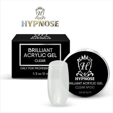 Hypnose Brilliant Acrylic Gel Clear №10, 15 мл