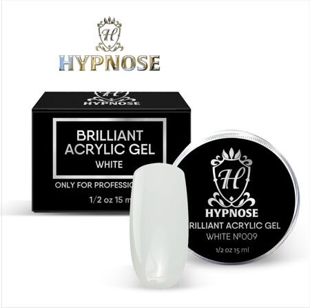 Hypnose Brilliant Acrylic Gel White №9, 15 мл