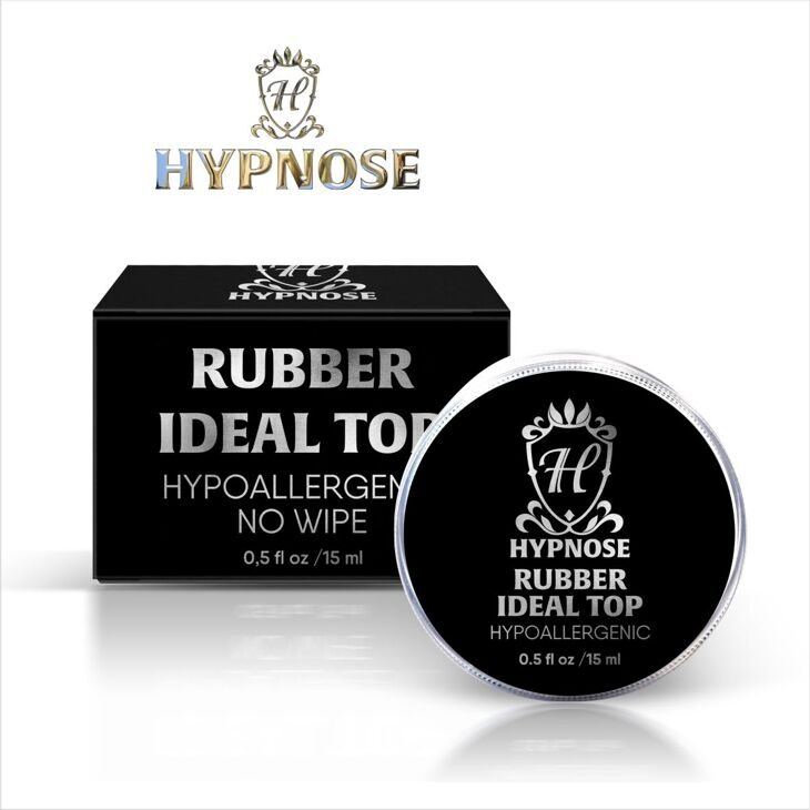 Верхнее покрытие для гель-лака Hypnose Rubber Ideal Top no wipe, банка 15мл